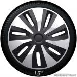 Bolle wieldoppen set ORION Van SB in zilver-zwart in 15 en 16 inch