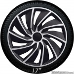 Bolle wieldoppen set TURBO Van SB in zilver-zwart 17 inch