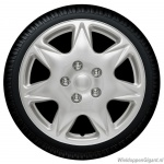 Wieldoppen set CALIFORNIA in zilver in 16 inch en 17 inch