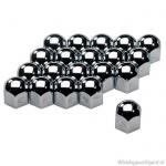 Wielmoerkapjes chroom 17 mm. Set a 20 stuks