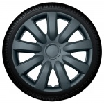Wieldoppen set ALABAMA in charcoal van 13 inch tm 15 inch