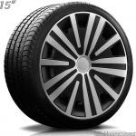 Wieldoppen set SPLINE-SB in zilver-zwart van 14 inch t/m 16 inch