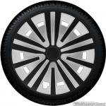 Wieldoppen set SPINEL-BS in zwart-zilver 16 inch