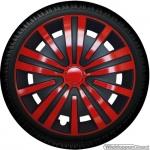 Wieldoppen set SPLINE-BRS in rood-zwart van 14 inch t/m 16 inch