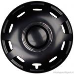 Losse wieldop ALABASTER-B hoogglans zwart met chroom ring van 13 inch t/m 16 inch