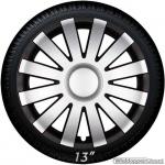 Wieldoppen set AGAT-SB in zilver-zwart van 13 inch t/m 16 inch