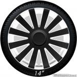 Wieldoppen set AGAT-BW in wit-zwart van 13 inch t/m 16 inch