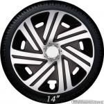 Wieldoppen set CYRKON-SB hoogglans zilver-zwart van 14 inch t/m 16 inch