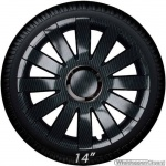Wieldoppen set ONYX-C in carbon-look met chroom ring van 13 inch t/m 16 inch
