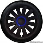 Wieldoppen set AGAT-GTB in mat-zwart met blauwe ring van 13 inch t/m 16 inch