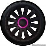 Wieldoppen set AGAT-GTP in mat-zwart met pink ring van 13 inch t/m 16 inch