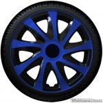 Wieldoppen set DRAGON BBS blauwe spaken met zwarte accenten van 13 inch t/m 16 inch