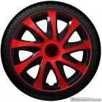 Wieldoppen set DRAGON BRS rode spaken met zwarte accenten van 13 inch t/m 16 inch