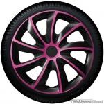 Wieldoppen set QUAD BPS in zwart met pink spaken van 13 inch t/m 16 inch