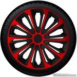 Wieldoppen set FURIOUS BRS zwart met rode spaken van 14 inch t/m 16 inch