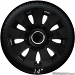 Wieldoppen set AURA-B in glanzend zwart van 13 inch t/m 16 inch