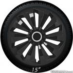 Wieldoppen set FOXY-B in glanzend zwart van 13 inch t/m 16 inch