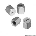 Ventieldopjes ARCADE mat aluminium set a 4 stuks