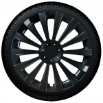 Wieldoppen set MERIDIAN BK in hoogglans zwart van 13 inch t/m 16 inch