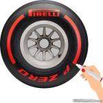 TirePaint Supersoft RED bandenstift rood voor accentueren van bandenmerk en -maat