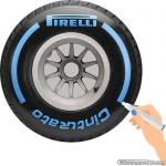 TirePaint Full Wet BLUE bandenstift blauw voor accentueren van bandenmerk en -maat