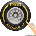 TirePaint Soft YELLOW bandenstift geel voor accentueren van bandenmerk en -maat