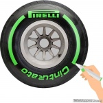 TirePaint Intermediate GREEN bandenstift groen voor accentueren van bandenmerk en -maat