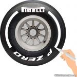 TirePaint Medium WHITE bandenstift wit voor accentueren van bandenmerk en -maat