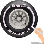 TirePaint Xtra Hard SILVER bandenstift zilver voor accentueren van bandenmerk en -maat