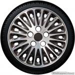 Pasvorm wieldoppen set VW Transporter in gepolijst aluminium-antraciet 16 inch