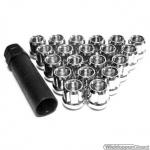 Wielmoeren set chroom M12x1.25 OPEN. 16 stuks en speciale sleutel