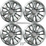 Wieldoppen set REPLICA 15 inch voor Ford Focus 2011-