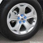 Siliconen wielmoerkapjes blauw 17 mm set a 20 stuks