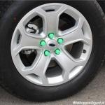 Siliconen wielmoerkapjes fluor groen 17 mm set a 20 stuks