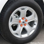 Siliconen wielmoerkapjes oranje 17 mm set a 20 stuks