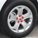 Siliconen wielmoerkapjes rood 17 mm set a 20 stuks