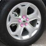 Siliconen wielmoerkapjes pink 17 mm set a 20 stuks