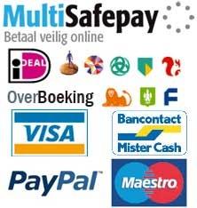 Bij ons kunt u veilig betalen met iDeal & Visa