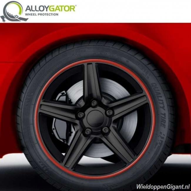 Alloygator Rood Velgrandbescherming Voor 4 Velgen Van 12 19 Inch